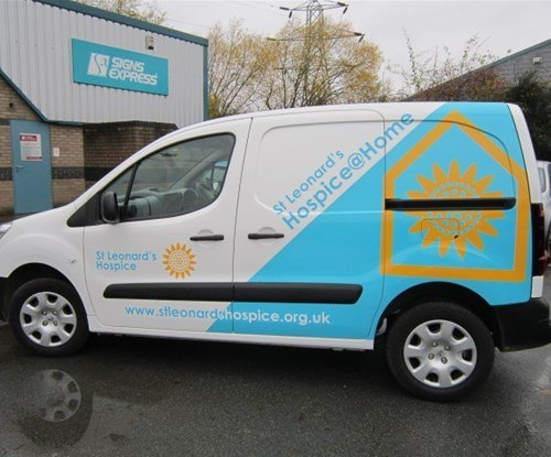 Another small van vehicle graphics for St Leonards Hospice