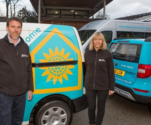 Ian Dawson and Louise Earnshaw from Signs Express (York)