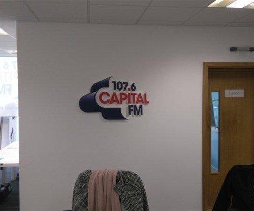 Wall graphics logo for Capital FM Radio