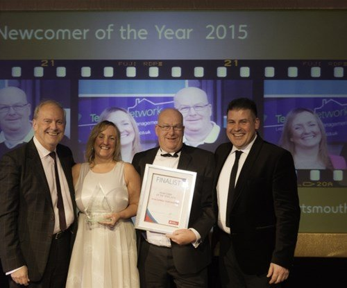 Jane and Ray winning Newcomer of the Year 2015