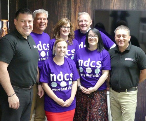 Our team pretty in purple NDCS t-shirts