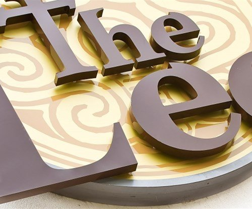 The Lee bar exterior 3D lettering and motif sign