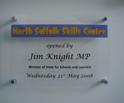 Acrylic ceremonial plaque