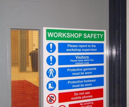 Multi message health & safety sign