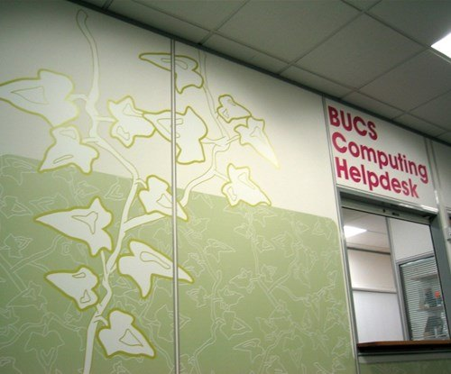Please see our Case Study for the the Bath University to see pictures of the variety of eye catching signage produced and fitted