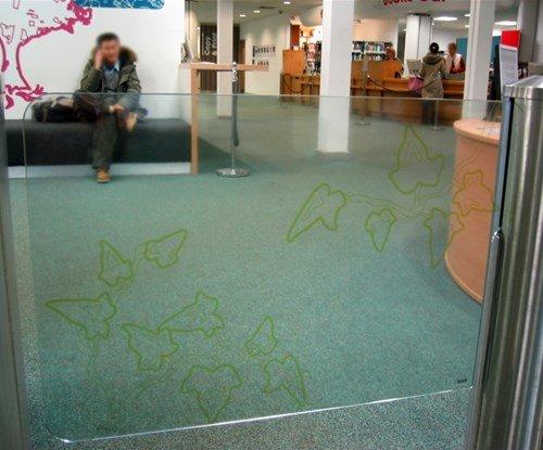 Window graphics for Bath University
