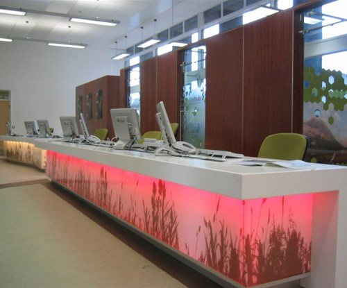 Please see our Case Study for the Bradford University to see pictures of the variety of eye catching signage produced and fitted