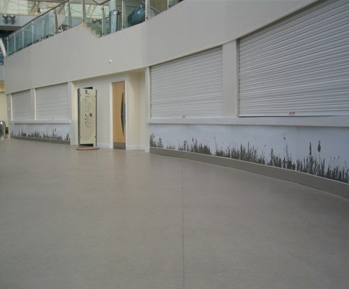 Interior decorative displays, digitally printed and decal cut for Bradford University