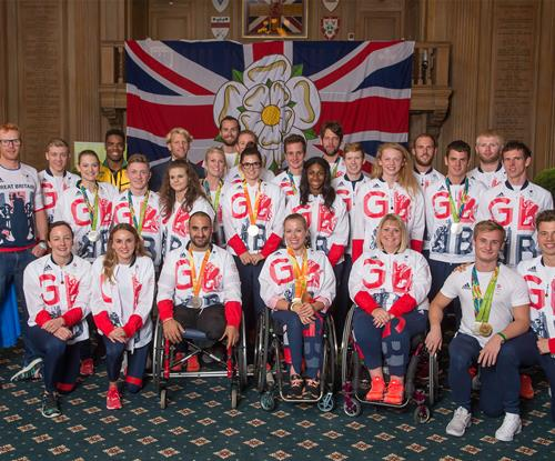 Some of the medal winning athletes