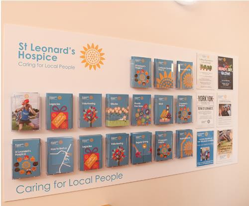 Acrylic Leaflet Holder St Leonards Hospice