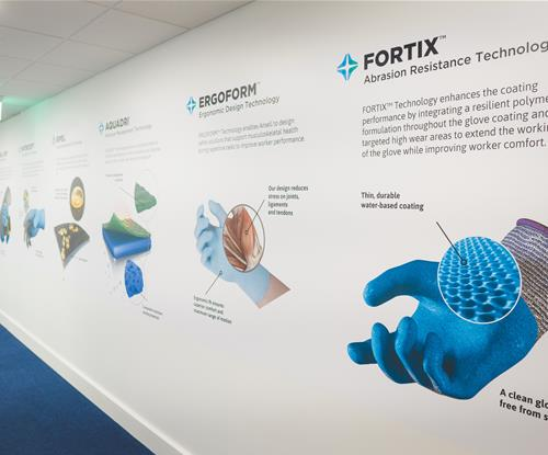 Wall graphics digitally printed