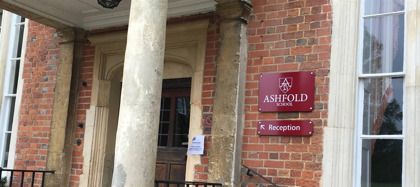 Ashfold School Sign Signage