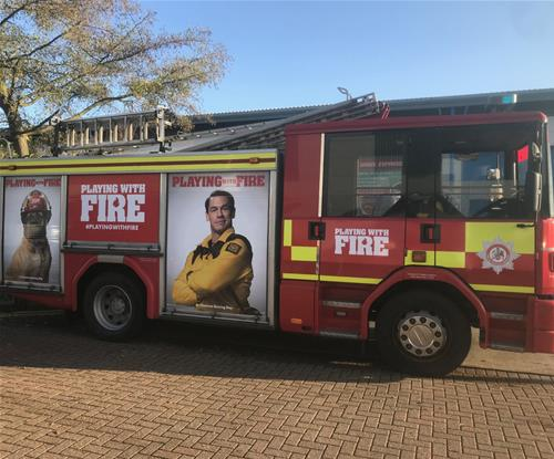 Fire truck graphics by Signs Express