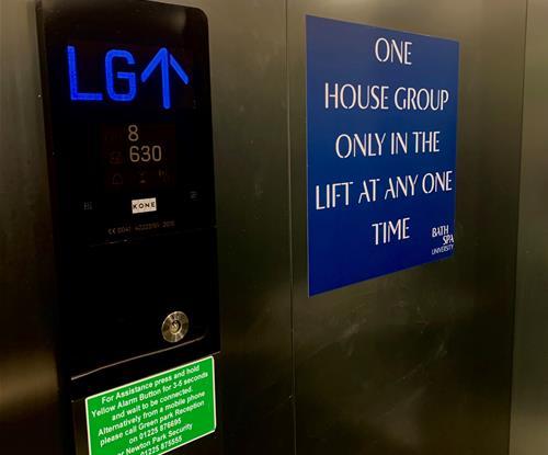 One House Group Lift Signage
