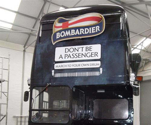 Bedford's Double Decker Bus Wrap for Bombardier