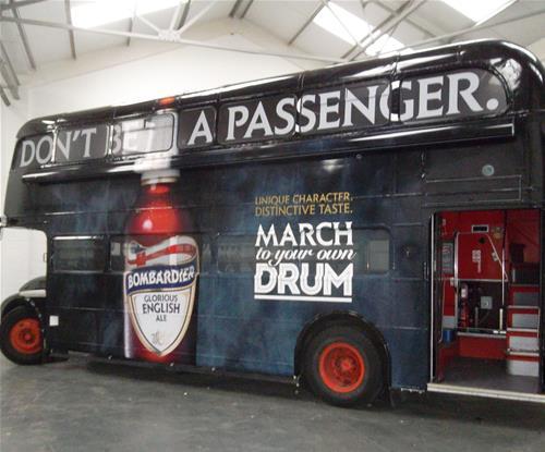Bombardier's Double Decker Bus Wrap