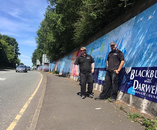 Blackburn Historic Advertising Wall Sign