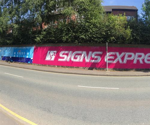 Advertising hoarding in Blackburn