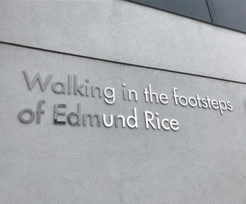 Brushed & mirror finish steel letters