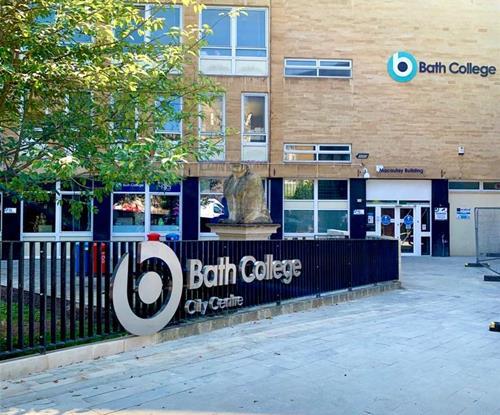Built up letters outside Bath College