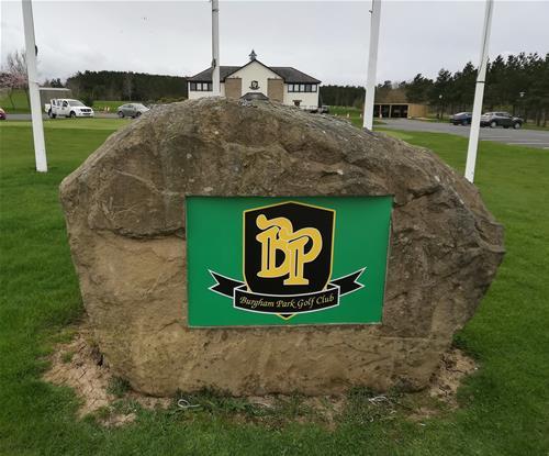 Burgham Park Golf Stone Sign