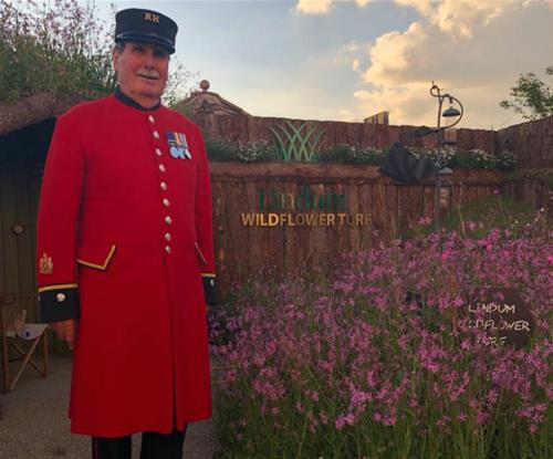 Signage proudly on display at RHS Chelsea Flower Show