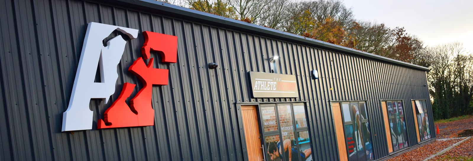 Athlete Fitness large entrance signage in Chester