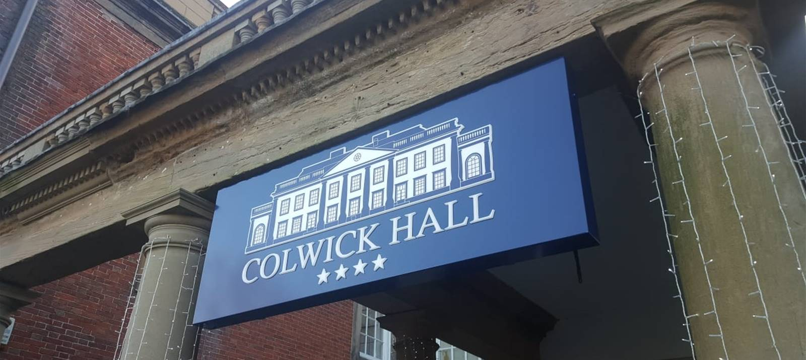 Outdoor entrance sign for 4* Colwick Hall