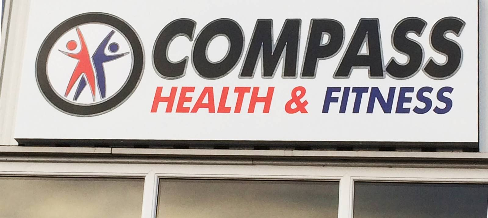 Outdoor business sign for new gym in Scarborough