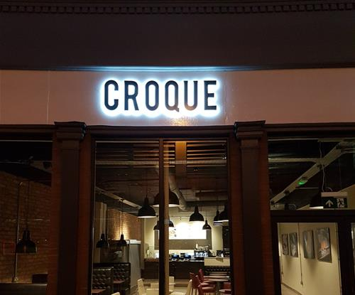 Exterior Illuminated Sign for Croque Monsieur in York