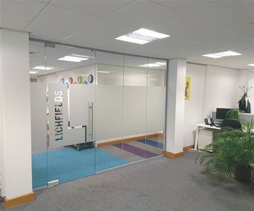 Door graphics for the brand refresh