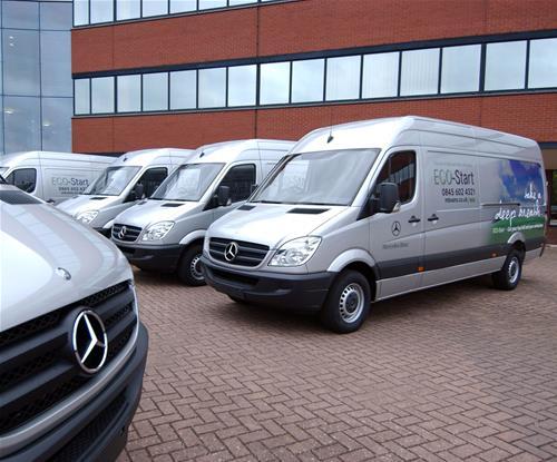 Mercedes ECO-Start fleet branding