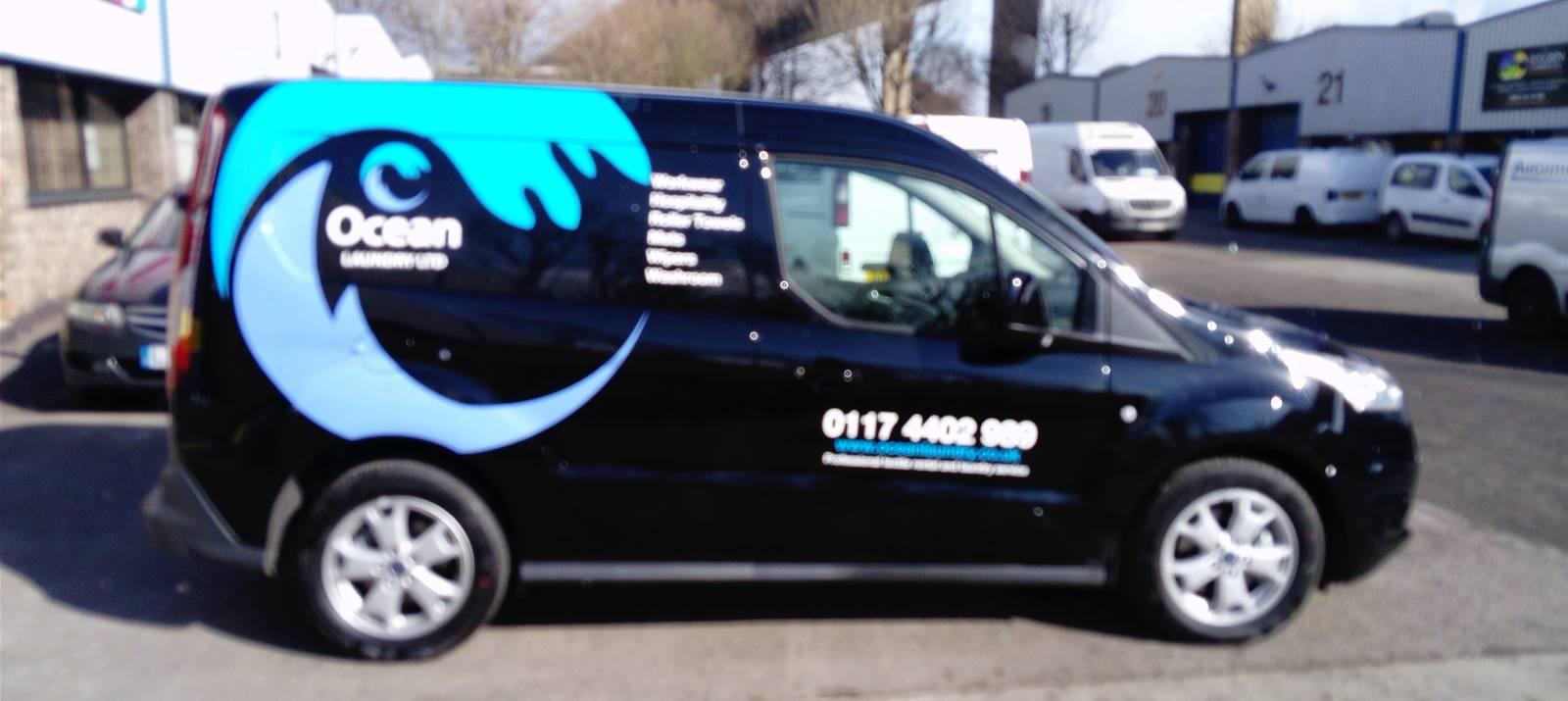 Partial van wrap with vehicle graphics in Bristol