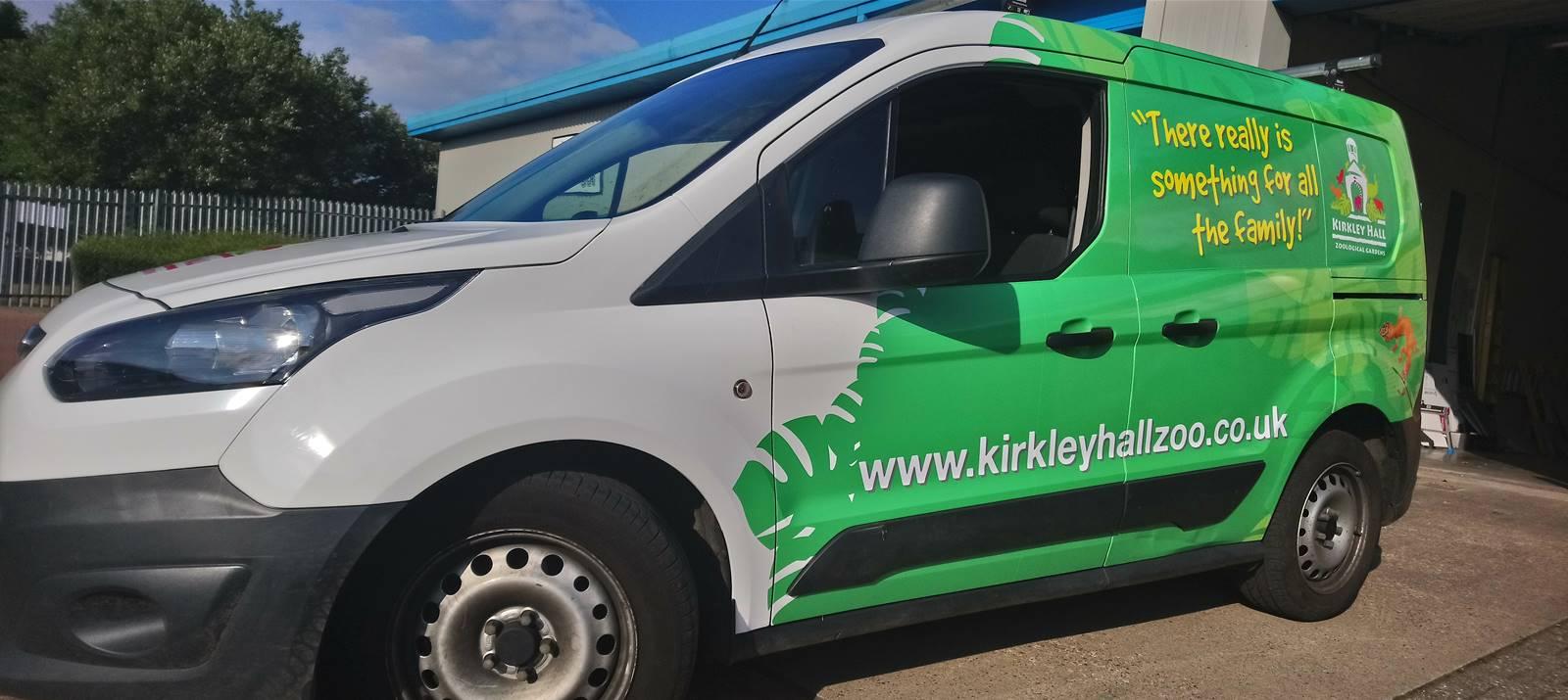 Van livery for Kirkley Hall Zoological Gardens