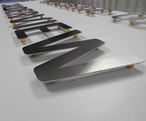 Aluminium Flat-Cut Letters, Aluminium Signs, Business Sign