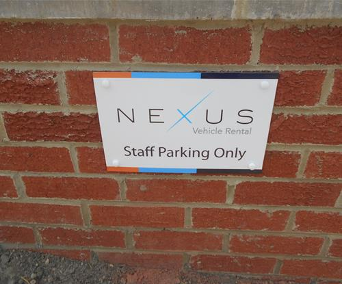 """Aluminium Composite """"staff only parking"""" sign"""