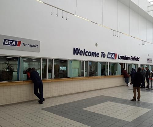 Entrance Lobby Signs comprising 11 metre span acrylic lettering and sign trays.