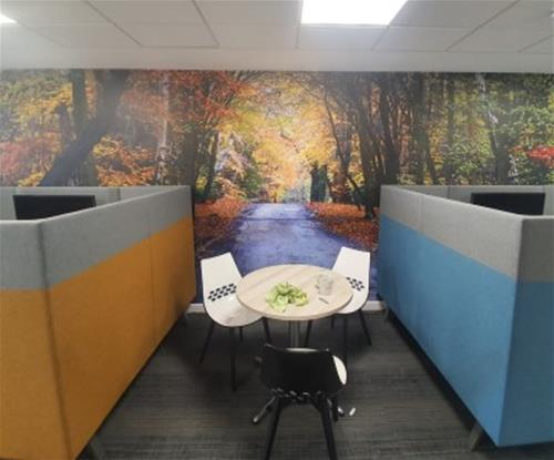 Custom wallpaper designed for Epping Forest Council office layout