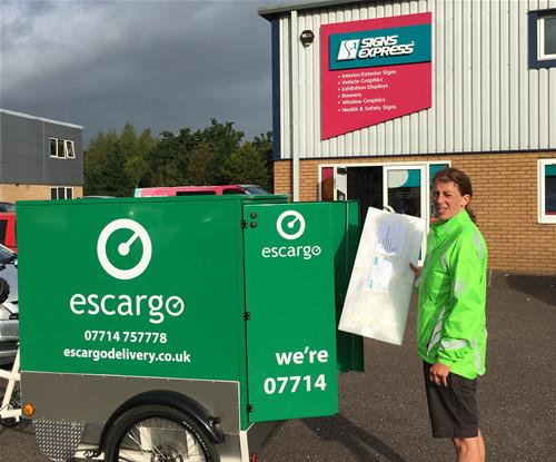 Signs Express (Exeter)'s first pedal-powered delivery!