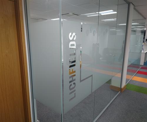 Interior Etched Window Graphics