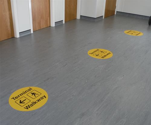 Floor graphics for Exeter Airport