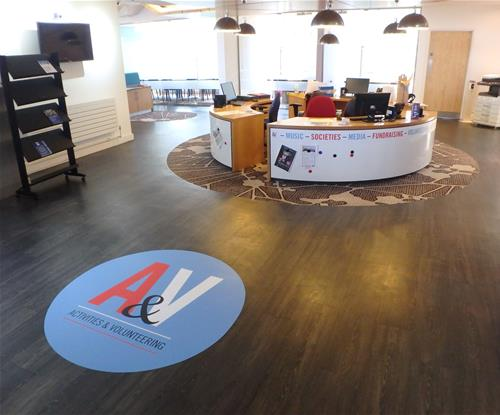 Floor graphics for Exeter University Students Guild