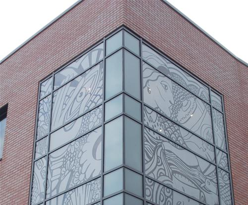 Exterior Etched Window Graphics Sheffield