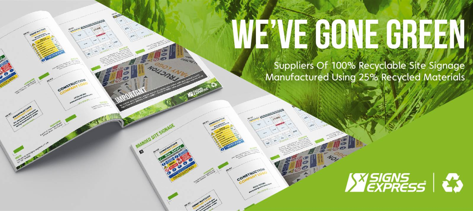green site signage and health and safety catalogue