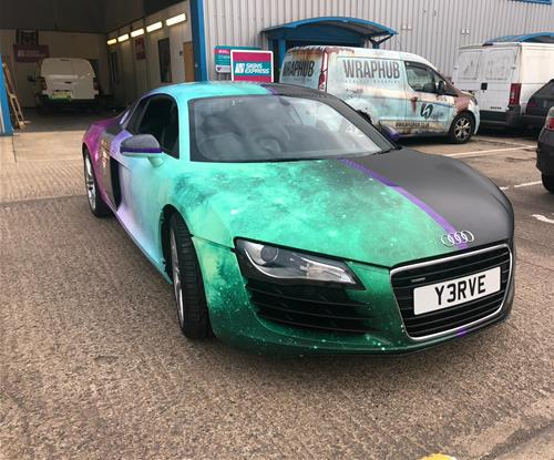 Signs Express Northampton Wrap an Audi R8 with Multiple Colours