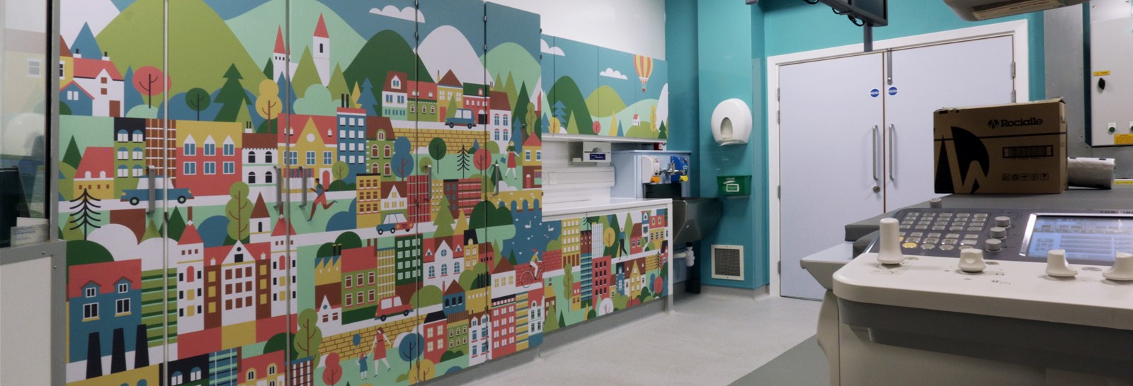 Wall art at Sheffield Children's Hospital by Signs Express