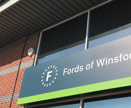 Sample Fascia Sign Fitted For Approval