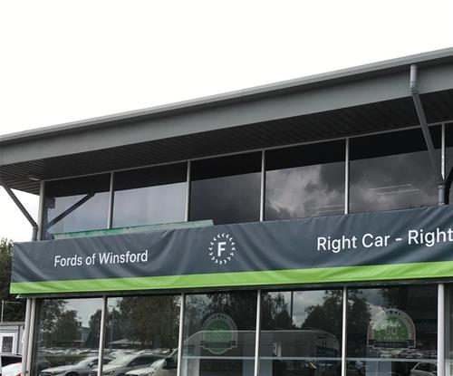 New External Business Sign In Situ Prior To Tension