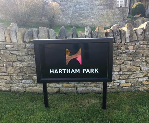 Hartham Park Post & Panel Sign Bath