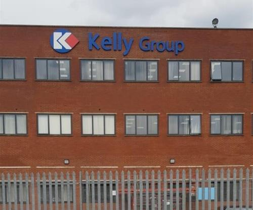 Completed Kelly Group high level external sign
